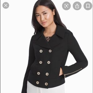 NWT WHBM Double Breasted Crop Jacket Sz Small P.